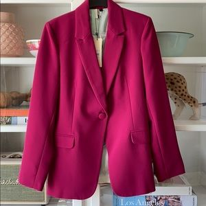Top shop women's magenta blazer size 6